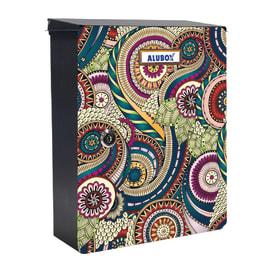 Cover per cassetta postale Mia Damasco in lamiera in acciaio L 27 x H 37 cm