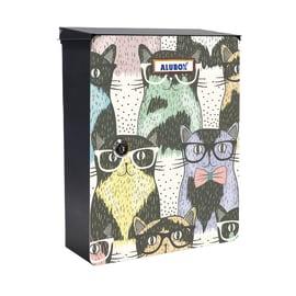 Cover per cassetta postale Mia Gattini in lamiera in acciaio L 27 x H 37 cm