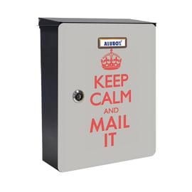 Cover per cassetta postale Mia Keep Kalm in lamiera in acciaio L 27 x H 37 cm