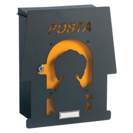 Cover per cassetta postale Mia Cuccia in ghisa L 31.5 x H 35.5 cm