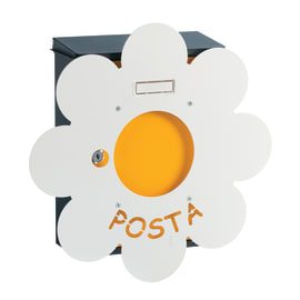 Cover per cassetta postale Mia Margherita in lamiera in acciaio L 40.6 x H 40.6 cm