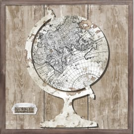 Quadro su tela World Map 40x40 cm