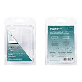 Porta-etichetta Kit per cassette postali in plastica abs L 15 x H 2.5 cm