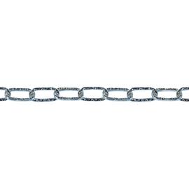Catena STANDERS Genovese pretagliata maglia quadra in acciaio L 2.5 m