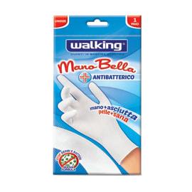 Guanto multiuso in maglina elastica WALKING Mano Bella antibatterico Taglia unica