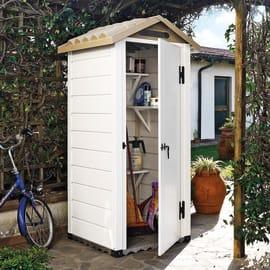 Casetta da giardino in pvc Tuscany Evo 80 0.58 m² spessore 20 mm