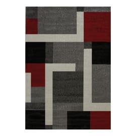 Tappeto Casa grey riquadri multicolor 160x230 cm