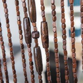 Tenda per porta Legno marrone 140x240 cm