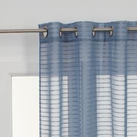 Tenda Righe orizzontali azzurro occhielli 140x280 cm