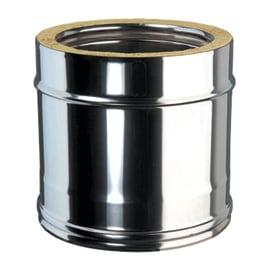 Condotto a doppia parete Tubo DP coib Aisi 316L d.150/200 in inox 316l (elevata resistenza in condizioni climatiche estreme) 25 cm