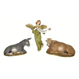 Figura decorativa animale in resina 3 pezziH 10 cm
