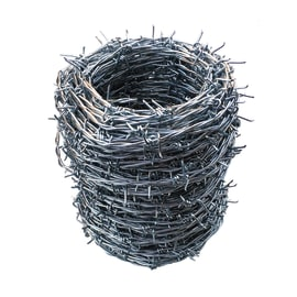 Filo spinato Filo spinato Zincato grigio in acciaio galvanizzato 50 m