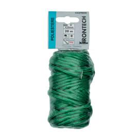 Corda a treccia in polipropilene STANDERS L 20 m x Ø 4 mm verde