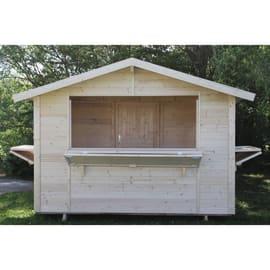Chiosco in legno Spritz 3 ribalte 5.9 m² spessore 19 mm
