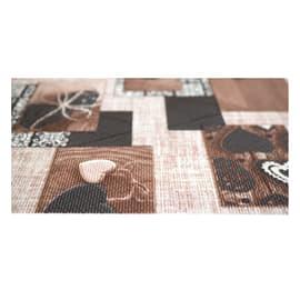 Tappeto Cucina antiscivolo Full nodo marrone 75x55 cm