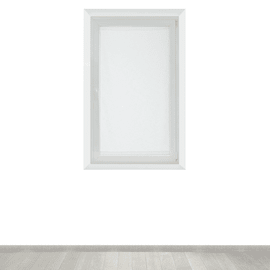 Tendina vetro Manuela naturale tunnel 90x160 cm