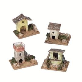 Casa assortita x H 10 cm 4 pezzi
