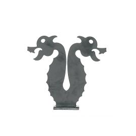 Decorazione in ferro battuto L 159 x H 145 mm