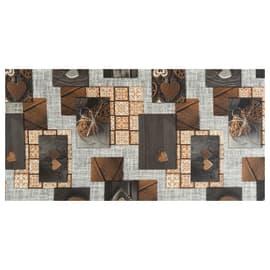 Tappeto Cucina antiscivolo Full nodo marrone 230x55 cm
