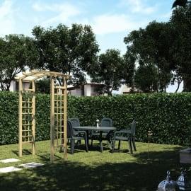 Pergola Doppia arco in legno naturale L 160 x P 72 x H 223 cm
