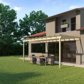 Pergola Eagle in legno marrone L 594 x P 300 x H 272 cm