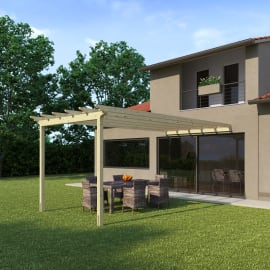 Pergola Flamingo in legno marrone L 300 x P 594 x H 272 cm