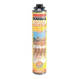 Schiuma poliuretanica SOUDAL Tetti e tegole grigio per tegola 0,75 ml