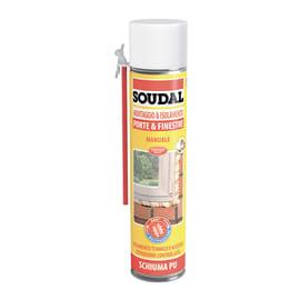 Schiuma poliuretanica SOUDAL Porte e finestre ecru per porta 0,6 ml