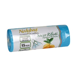 Sacchi spazzatura Nodybag Limone L 52 x H 54 cm 30 L azzurro 15 pezzi