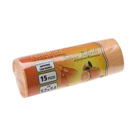 Sacchi spazzatura Nodybag L 52 x H 54 cm 30 L arancio 15 pezzi