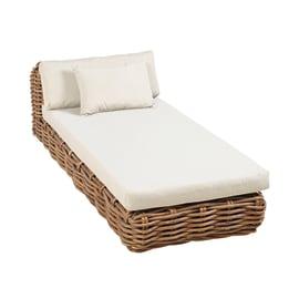 Lettino con cuscino in legno Bora marrone L 204 x H 94 cm