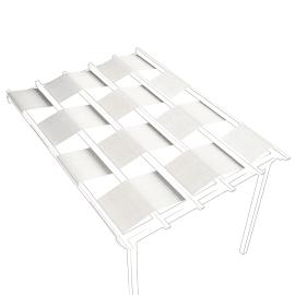 Tela in acrilico Flamingo / Eagle (3 pezzi) bianco 70 x 650 cm