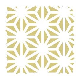 Tessuto Samarcanda geometrico senape 280 cm