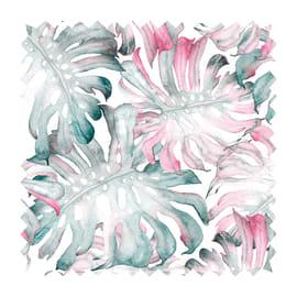 Tessuto Samarcanda tropicale rosa 280 cm