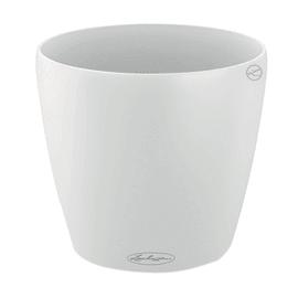 Vaso Classico Color LECHUZA in plastica bianco H 20 Ø 21 cm