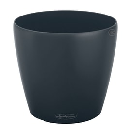 Vaso Classico Color LECHUZA in plastica grigio H 26 Ø 28 cm