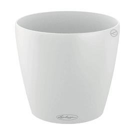Vaso Classico Color LECHUZA in plastica bianco H 40 Ø 43 cm