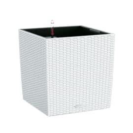 Vaso Cubico Cottage LECHUZA in plastica bianco H 50 , L 50 X P 50 cm