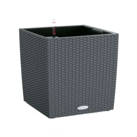Vaso Cubico Cottage LECHUZA in plastica grigio H 40 , L 40 X P 40 cm