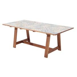 Tavolo da pranzo per giardino rettangolare Soho con piano in ceramica L 105 x P 205 cm