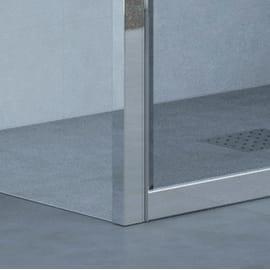 Porta doccia pieghevole Elyt , H 190 cm in vetro temprato, spessore 6 mm trasparente grigio