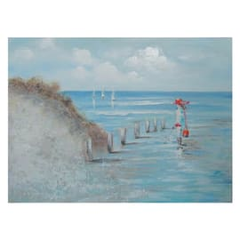 Quadro dipinto a mano By The Sea Shore 120x90 cm