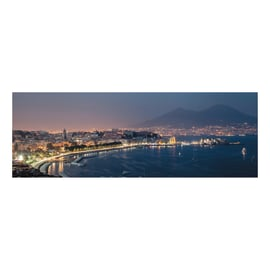 Quadro su tela Golfo di Napoli 40x125 cm