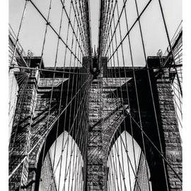 Quadro su tela Brooklyn Bridge 100x50 cm