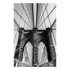 Quadro su tela Brooklyn Bridge 145x95 cm