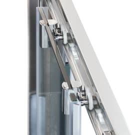 Box doccia rettangolare scorrevole 70 x 100 cm, H 195 cm in vetro temprato, spessore 8 mm trasparente argento