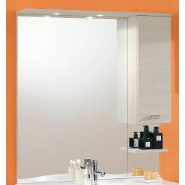 Specchio contenitore con luce Rimini L 100 x P 18.5 x H 108 cm larice laminato