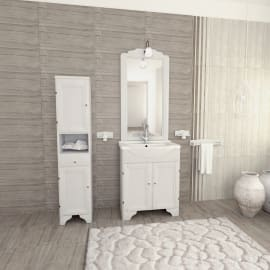 Specchio con faretto bagno rettangolare Laura L 60 x H 113 cm