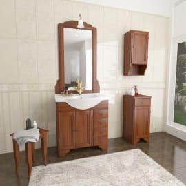 Specchio con faretto bagno rettangolare Laura L 70 x H 113 cm