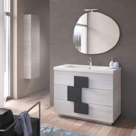 Specchio adesivo bagno ovale Sasso L 90 x H 78 cm